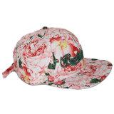 Cappello floreale poco costoso di Snapback di stampa del cotone su ordinazione con ricamo