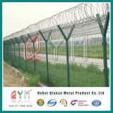 機密保護の溶接された網空港Fence/PVCによって塗られる溶接された金網空港塀