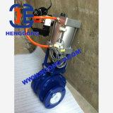 Soupape à vanne pneumatique en céramique de bride d'acier de moulage de dispositif d'entraînement d'ANSI/DIN