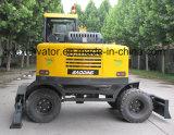 Heißer Wannen-/Grasper kleiner Rad-Exkavator des Verkaufs-Gelb-0.3m3