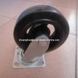 Echador de goma resistente de la carga del carro de paleta del rodamiento de rodillos del arrabio