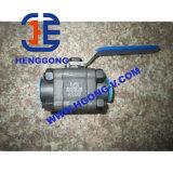 API/DIN forjó la vávula de bola soldada de alta presión del acero 3PC