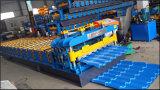 機械屋根の&Wallの鋼鉄波形機械を形作る艶をかけられたタイルロール