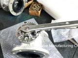Plein type de bride de l'acier inoxydable (CF8) vanne papillon avec le levier