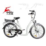 "Fahrrad 26 "" des Al-Legierungs-Rahmen-36V Lithium-Batterie-Frauen-Stadt-der Art-E (JSL038Z-11)"