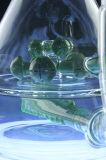 De mega Waterpijp van het Glas van de Beker Rokende met Gealigneerd om DwarsPerc (S-GB-582) te verdubbelen