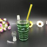 Impianto offshore di Piipe dell'acqua di bottiglia di colore verde per fumare
