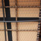 Pátio de vime ao ar livre bom de Furnir Wf-17066 grupo do assento do poço do incêndio de 8 partes com coxim