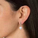 Swarovskiの真珠のホックのイヤリングからの運命の宝石類の水晶
