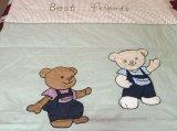 綿のYarn-Dyed綿の子供パッチの刺繍のキルト