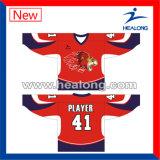 Healong Entwerfer-Farbe sublimierte Drucken kundenspezifische HockeyJerseys