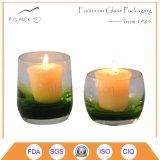 Bunter Schuss-Glas-Kerze-Halter, Kerze-Lampe