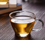 Copo bonito do vidro do copo de café do vidro de Borosilicate