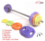 Saleのための40kg Rubber Coated Bodypump Barbell Weight Set