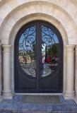 Elegante Entwurfs-runde Oberseite-Eisen-Haustür