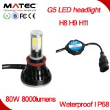 G5 IP68 Waterproof o farol do diodo emissor de luz, H4 H7 H11 9005 9006 9007