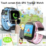 Mais recente tela de toque Kids GPS Tracker Watch com tocha (D26)