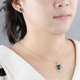 사슬을%s 가진 여자 925의 순은 녹색 마노 Fox 펀던트 목걸이