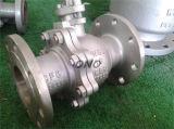 Flange de Qith da válvula de esfera da válvula do aço inoxidável para industrial