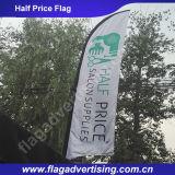 폴란드와 기초를 가진 가죽 보호 바람 저항하는 광고 바닷가 기털 깃발