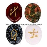 Pietra preziosa della pietra semi preziosa che intaglia la figura fette del segno