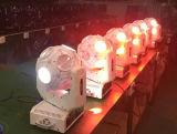 디스코 DJ는 LED 이동하는 맨 위 광속 스튜디오 점화를 때린다