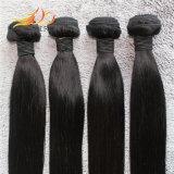 100%のカンボジア人のバージンの毛の絹のまっすぐな高品質の毛の織り方