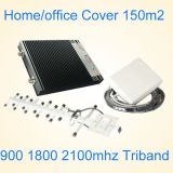 El colmo de Triband gana 900 1800 el aumentador de presión de la señal del teléfono celular de DCS WCDMA G/M 1800MHz de 2100MHz G/M