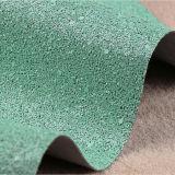tissu volumineux de scintillement de cuir de PVC 3D pour le papier peint, chaussures, sacs, capitonnage