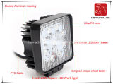 Luz del trabajo de la pulgada 27W Sqaure LED de la luz 3 del coche del LED para el coche LED de SUV de la luz del camino y de la luz de conducción