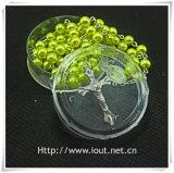 Contenitore di imballaggio di plastica religioso, contenitore di rosario (IO-p024)