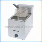 Friteuse commerciale de gaz pour le matériel de cuisine