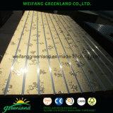 De gegroefte Gelamineerde MDF 1220X2440mm Melamine eindigt