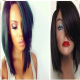 Moda Virgem Cabelo Humano Brasileiro Bob Glueless Full Lace Wig