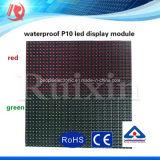 Módulos ao ar livre do indicador de diodo emissor de luz da única cor do MERGULHO P10