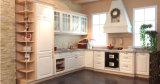 Moderのシェーカーのドア白いビニールによって包まれるPVC食器棚(zc-076)