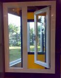 Окно Casement PVC 60 серий с окном жалюзиего вентиляции (PCW-033)