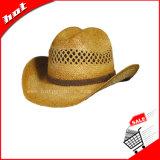 Sombrero de vaquero de la rafia, sombrero de vaquero, sombrero de paja, sombrero de paja del vaquero