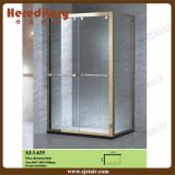 Glace Tempered Showerroom avec la vente de Framefor d'acier inoxydable (SJ-L635)