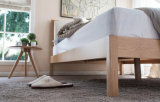 Camas matrimoniales modernas de la cama de madera sólida (M-X2248)