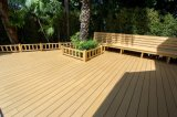 Cor Natural WPC Deck Flooring Composto Plástico WPC