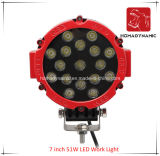 Lumière de travail de pouce 51W DEL de la lumière 7 de véhicule de DEL pour le véhicule DEL de SUV outre de la lumière de route et de la lumière pilotante