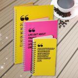 Cahier bon marché d'agenda de cahier d'unité centrale de logo personnalisé par couverture colorée
