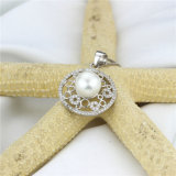 従来の淡水の真珠の吊り下げ式のネックレスの純銀製