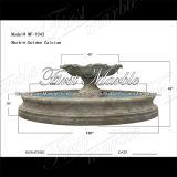 Fontaine d'or Mf-1043 de calcium de granit de travertin en pierre de marbre de jardin
