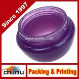 10g, vasi glassati viola del contenitore di alta qualità 10ml con la fodera interna per trucco, screma, campioni cosmetici del prodotto di bellezza - BPA libero