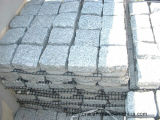 화강암 G603 G687 G664 G654 G602 도와를 위해 포장하는 대리석 입방체 돌 Cubestone 회색 까만 연석