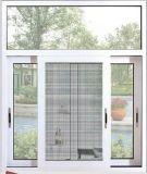 Am meisten benutztes schiebendes Aluminiumfenster des heißen Verkaufs-2017 mit Doppelverglasung-ausgeglichenem Glas