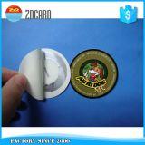 Etiqueta de encargo de la caída del papel de la ropa de la alta calidad con la cinta de seda de la flor
