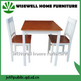 Tabela e cadeiras da mobília da madeira contínua para a cafetaria